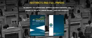 ABSTRACTS AND FULL PAPERS 2016